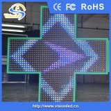 Color pieno 3D Animation Pharmacy LED Cross Display