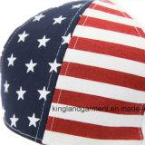 Casquette de baseball 100% de blanc d'indicateur américain des Etats-Unis de foret de coton