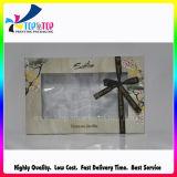 Boîte-cadeau de papier d'OEM de beau modèle avec le dessus clair de guichet