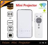 Projecteur androïde ultra-mince de DLP de poche de WiFi de Foison avec la batterie 5000mAh rechargeable intrinsèque