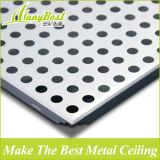 2016 moda perfurada de alumínio teto falso
