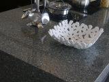 Quartzo artificial da cor branca para bancadas da cozinha