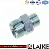 Adaptador de tubo hidráulico reto masculino métrico do aço de carbono (1D)