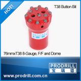 Felsen-Bergbau-Bohrgerät-Tasten-Bits der Qualitäts-T38 T45 T51 verlegte