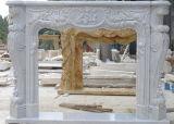 중국 고품질 백색 대리석 전통적인 스타일 벽난로 벽로선반
