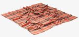 새로운 형식 주황색 격자 숄 온정 예쁜 스카프