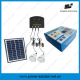 Mini Sistema Solar casera de Shenzhen LED con el cargador del panel solar de 11V 4W y del teléfono del USB