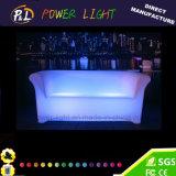 Sofà d'ardore esterno della mobilia LED