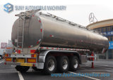 48000 Aluminium 5083 Semi Aanhangwagen 3 van L van de Tankwagen van de Olie de Aanhangwagen van de Tanker van de Brandstof van Assen