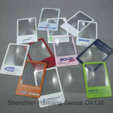 工場価格のクレジットカードのサイズの拡大鏡(HW-803) PVC拡大鏡レンズのカード