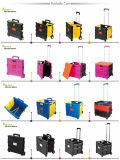 Faltende Plastiksatz-und RollenEinkaufswagen-Laufkatze
