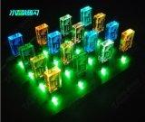 Kundenspezifisches Firmenzeichen Kristall-USB-grelles Feder-Laufwerk mit LED-Licht