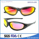 Occhiali da sole del PC di protezione di sport UV400 dello stilista degli uomini