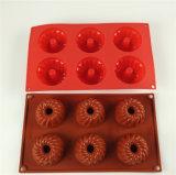 Moulage carré de gâteau de silicones de 6 prises