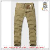 Pantalones del tipo de tela de algodón de los hombres al por mayor de moda del último diseño
