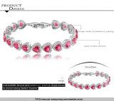 De robijnrode Armbanden van de Vrouwen van de Liefde van het Hart Zircon (CBR0034)