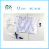 Sacchetto sterile a gettare medico approvato dell'urina del Ce (T-valvola)