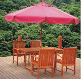 paraguas de madera esencial al aire libre del jardín de los 3m con poste central 48m m