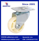 125mm White Nylon Double Bearing Caster с Brake