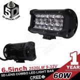60W barre combinée d'éclairage LED de lentille du faisceau 5D du CREE DEL 5400lm 6.57inch