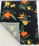 Tela mezclada algodón de lino floral de la impresión para las materias textiles del hogar de la ropa