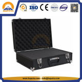 黒いロックできるアルミニウムツールの記憶の箱の箱(HT-1115)