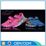 Rad-Kind-Rollen-Schuhe der neuester Entwurfs-Funktionsschuh-LED blinkende einziehbare