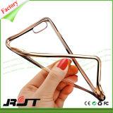 iPhone6/6s柔らかいTPUのケース(RJT-0241)のための贅沢な電気めっきの金属フレームの超薄い保護携帯電話カバー