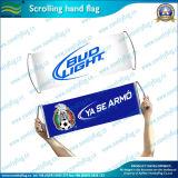 Il commercio all'ingrosso smazza la bandierina della bandiera della mano di Scrolling del PE (M-NF35P09002)