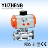 Vávula de bola portuaria llena sanitaria de la marca de fábrica de Yuzheng Dn25