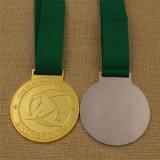 Medalla de encargo del esquí del deporte del metal para el bronce de la plata del oro de la concesión