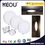 Ce/RoHSの商業か屋内正方形LEDの天井板ライト白フレーム