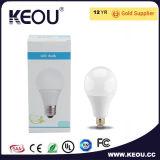 Blanc frais/chaud Plastico DEL de lumière d'ampoule en aluminium de base d'E27/B22/E14