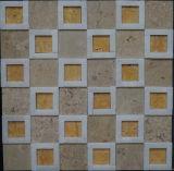構築のMaterilの特別なデザインBathroomlのタイル(FYSSC335)の混合されたカラー大理石の石のモザイク