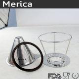 ステンレス鋼の立場が付いている再使用可能な二重層の網のコーヒーのフィルター