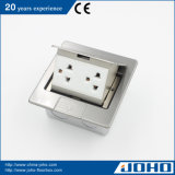 Edelstahl Desk Power/Multipurpose Floor Box Socket mit RJ45/Network