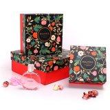 Caja de almacenaje lateral de la maleta del papel de caja de regalo del papel de la forma seises