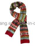 Foulard long en jacquard en acrylique tricoté d'hiver à la mode