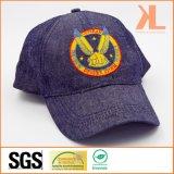 刺繍が付いているChambrayのジーンズ6のパネルの野球帽