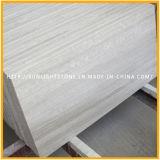 Telhas brancas de madeira chinesas do revestimento e da parede da pedra do mármore da veia
