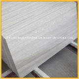 Китайский белый мрамор Деревянный пол / стена плитка, Мраморный венnull