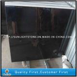 Flamed Natural China Hebei Black Granite Stone Flooring / Floor Tiles