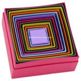 Boîtes de cadeau de empaquetage de Carboard de triangle faite main décorative
