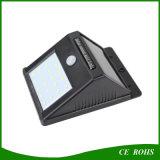Indicatore luminoso della parete della lampada LED di applicazione del giardino del rifornimento di energia solare dei 20 LED