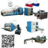 6 líneas máquina automática de la fabricación de papel de tejido facial del plegamiento del Rectángulo-Gráfico
