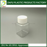 ペット100ml正方形のプラスチック薬のびん