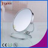 Regalo de la Navidad espejo del maquillaje del espejo del bolsillo del lado del doble de 3 pulgadas (M5093)