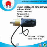 C.C Servo Motor de 48VDC 3000rpm High Speed Brushless