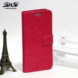 Samsungのノート7のためのShsの磁石の札入れの本様式PUの革フリップカバーケース