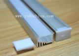 Minialuminiumkanal/Strangpresßling/Profil für Band des Gehäuse-LED im Silber